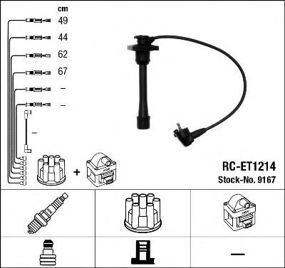 9167 NGK Комплект проводов зажигания