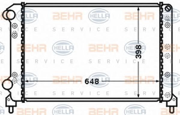 8MK376767691 BEHR-HELLA Радиатор, охлаждение двигателя