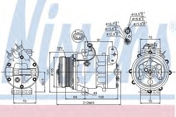 89037 NISSENS Компрессор кондиционера