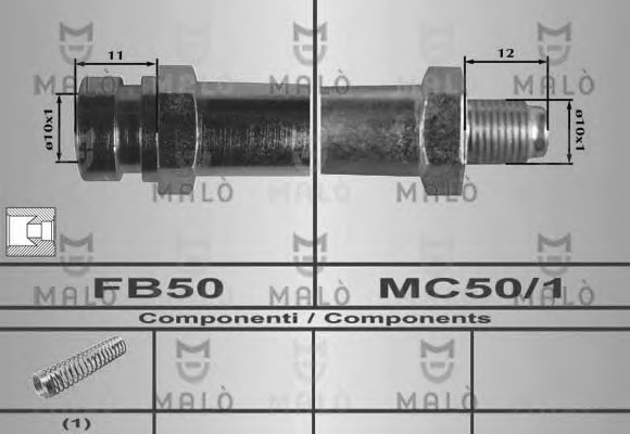 80593 MALO Тормозной шланг