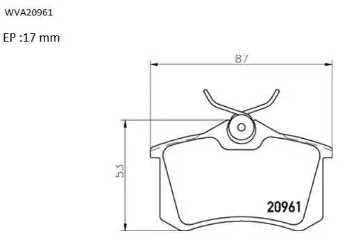 ABP9615 AUTOMOTOR FRANCE Колодки тормозные задние дисковые
