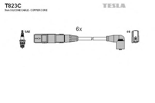 Комплект проводов зажигания TESLA T823C