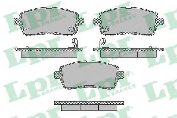 05P1673 LPR Комплект тормозных колодок, дисковый тормоз