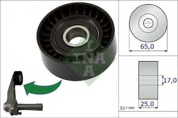 Натяжной ролик, поликлиновой  ремень LUK 531086610