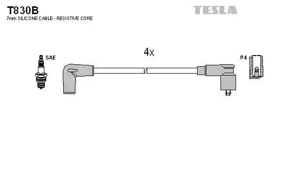 T830B TESLA Комплект проводов зажигания
