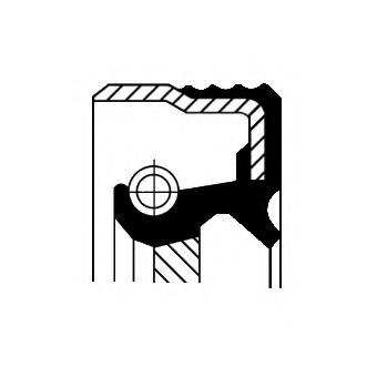 12013897B CORTECO Уплотняющее кольцо, коленчатый вал
