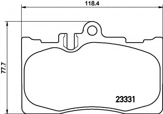 8DB355009861 HELLA Комплект тормозных колодок, дисковый тормоз