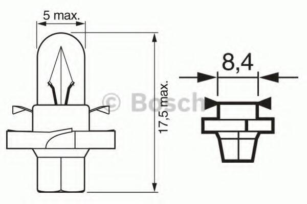 1987302255 BOSCH Лампа накаливания