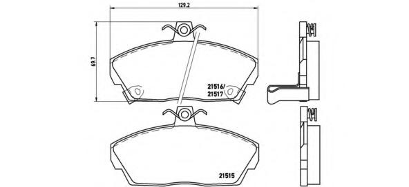 P28020 BREMBO Комплект тормозных колодок, дисковый тормоз