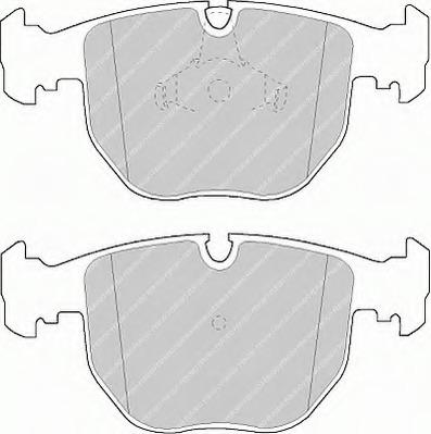 FDB997 FERODO Колодки тормозные дисковые передние, комплект
