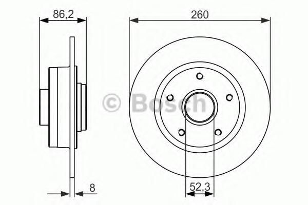 0986479684 BOSCH Тормозной диск