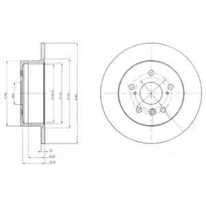 BG4268 DELPHI Диск тормозной вентилируемый|полный