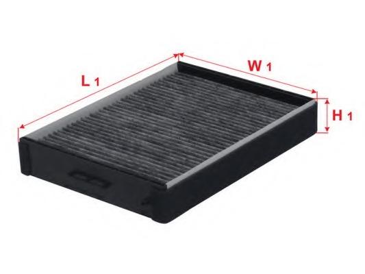 CAC2802 SAKURA Фильтр салона угольный