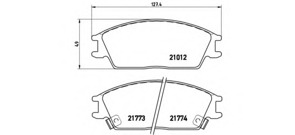 Колодки тормозные дисковые передние, комплект BREMBO P30024