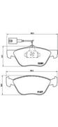 P23077 BREMBO Комплект тормозных колодок, дисковый тормоз