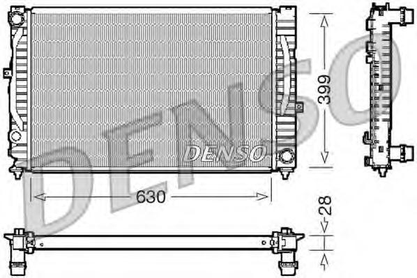 DRM02032 DENSO Радиатор, охлаждение двигателя