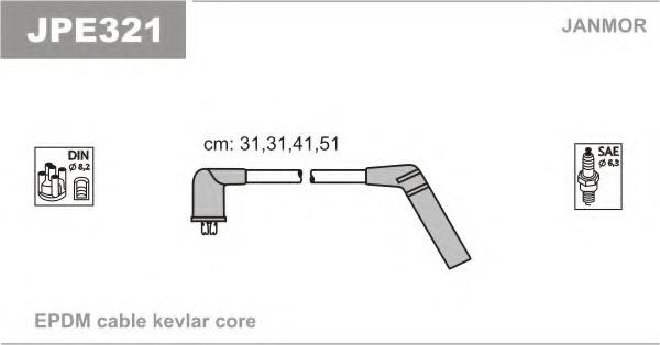 JPE321 JANMOR Комплект проводов зажигания