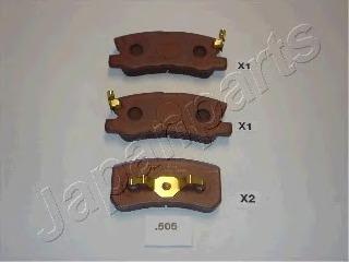 PP505AF JAPANPARTS Комплект тормозных колодок, дисковый тормоз
