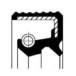 Уплотняющее кольцо, ступенчатая коробка передач CORTECO 12016820B