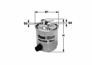 DN1988 CLEAN FILTER Фильтр топливный