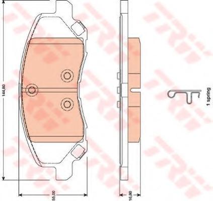 GDB4141 TRW/LUCAS Комплект тормозных колодок, дисковый тормоз