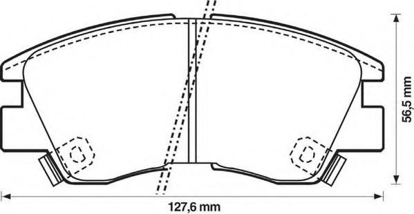 572281J JURID Комплект тормозных колодок, дисковый тормоз