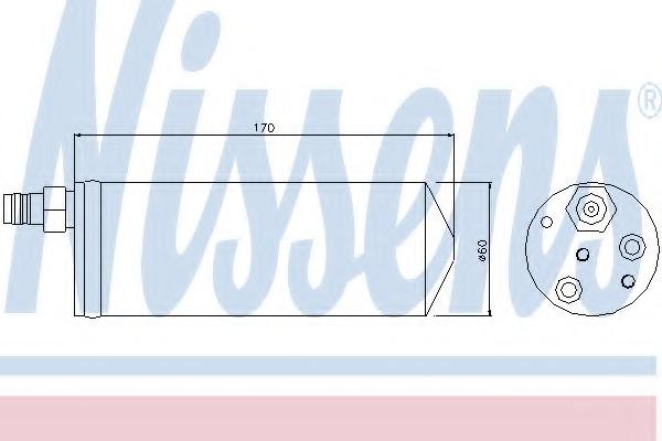 95363 NISSENS Осушитель, кондиционер
