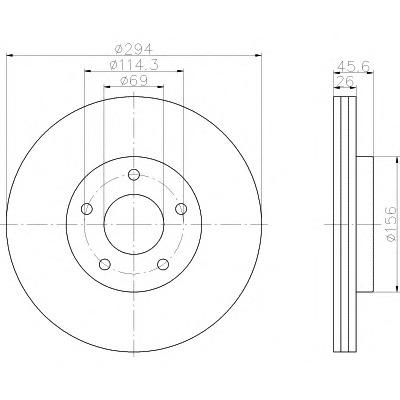 92257603 TEXTAR Тормозной диск