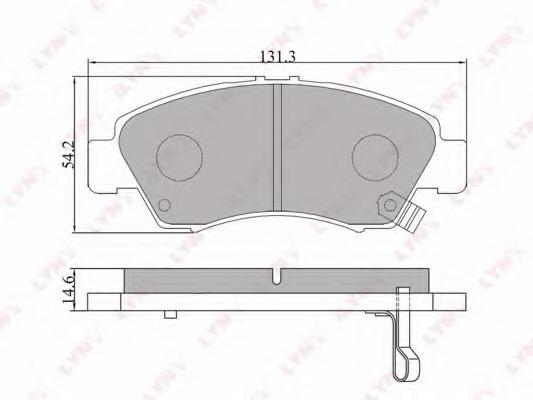 BD3407 LYNX Комплект тормозных колодок, дисковый тормоз