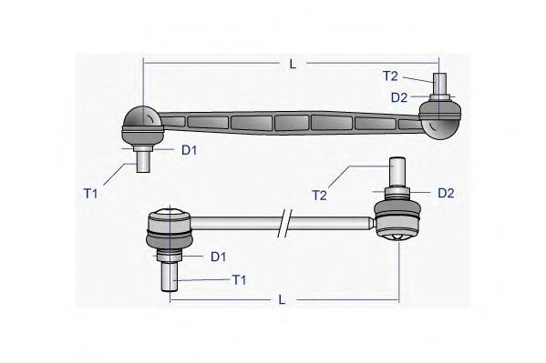 Тяга / стойка, стабилизатор MOOG PEDS5043