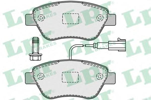 05P1225 LPR Комплект тормозных колодок, дисковый тормоз