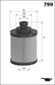 Масляный фильтр MECAFILTER ELH4390