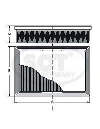 SB954 SCT фильтр воздушный IA SPORTAGE (94-04)