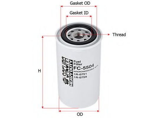 FC5504 SAKURA Топливный фильтр