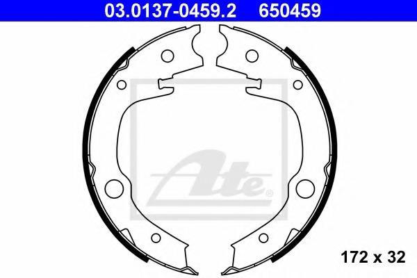 03013704592 ATE Комплект тормозных колодок, стояночная тормозная система