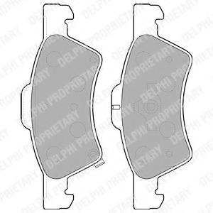 LP1693 DELPHI Колодки тормозные дисковые, комплект