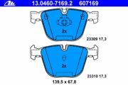 13046071692 ATE Комплект тормозных колодок, дисковый тормоз