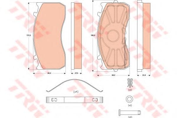 GDB5073 TRW Комплект тормозных колодок, дисковый тормоз