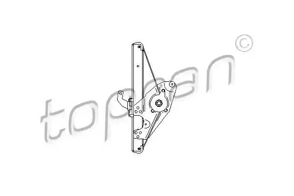 112366 TOPRAN Подъемное устройство для окон