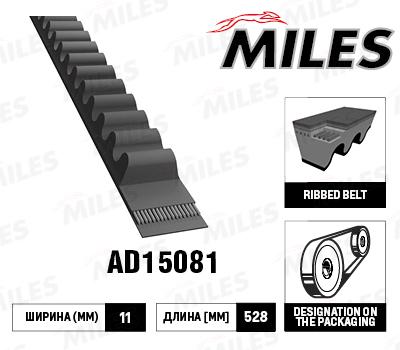 AD15081 MILES Ремень клиновой