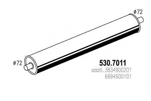 5307011 ASSO Система выпуска ОГ