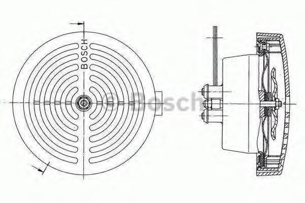 0320223024 BOSCH Звуковой сигнал