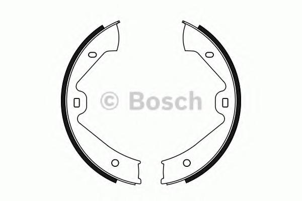 0986487755 BOSCH Комплект тормозных колодок, стояночная тормозная система