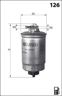 ELG5234 MECAFILTER Топливный фильтр