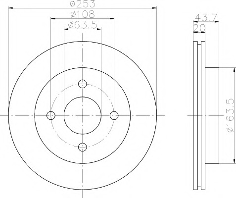 92063603 TEXTAR Тормозной диск