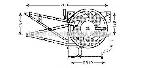 OL7515 AVA Вентилятор, охлаждение двигателя