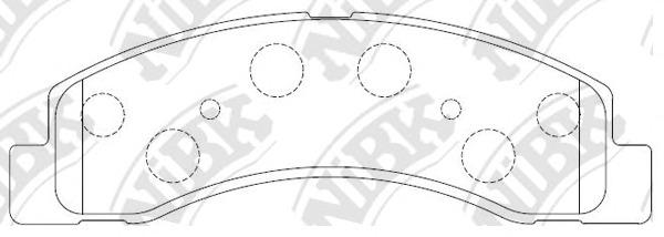 PN0057 NIBK Колодки тормозные дисковые
