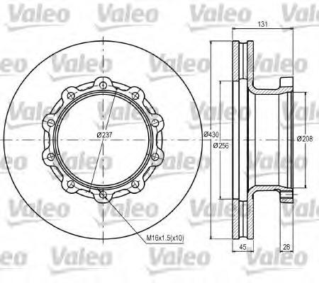 187070 VALEO Тормозной диск