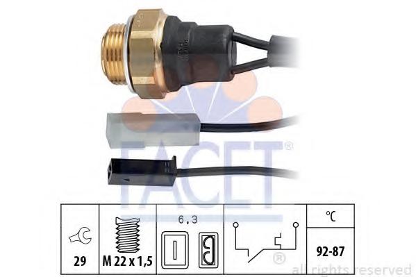 75001 FACET Термовыключатель, вентилятор радиатора