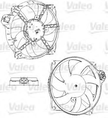 696229 VALEO Вентилятор, охлаждение двигателя